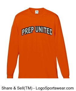 Prep United Long Sleeve Youth Shooting Shirt Design Zoom