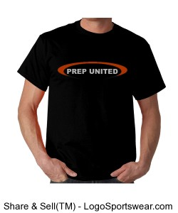 Oval Prep United Black T-Shirt Design Zoom