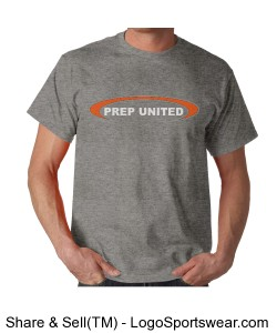 Oval Prep United Adult Grey T-Shirt Design Zoom